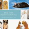 Personalized Digital Watercolor Pet Portrait
